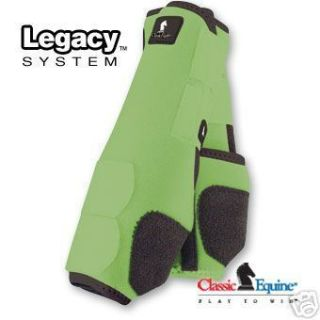 Boots Lime Green Front Horse Tack SMB Sport Medicine Boots