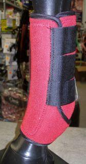 New Red Sports Medicine Boots SMB Medium Horse Tack Barrels Poles