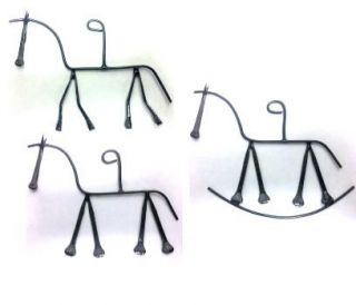 Horseshoe Nail Art Horse Christmas Ornament Lot of 10