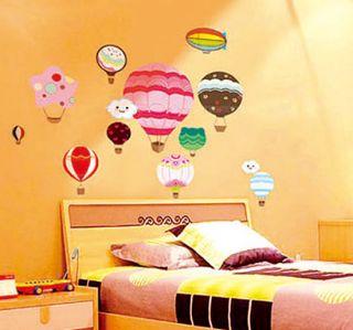 DIY Mural Decal Home Dorm Decor Vinyl Art Hot Air Balloon
