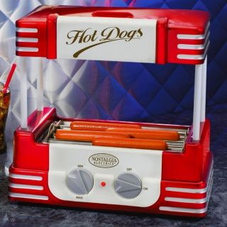Classic Hot Dog Roller Grill Machine & Bun Warmer Electric Rolling