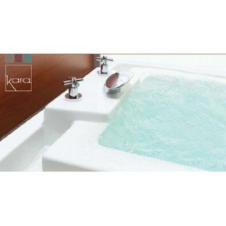 Neptune Kara Mass Air/Whirlpool Combo Tub  76 7/8 x 43 7/8 x 21 1/8