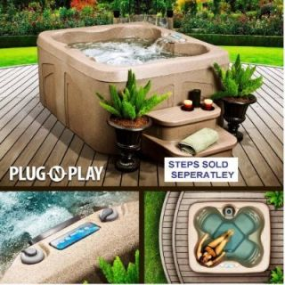 Spa Hot Tub Jacuzzi 4 Person Lifesmart Rock Solid Simplicity Plug and