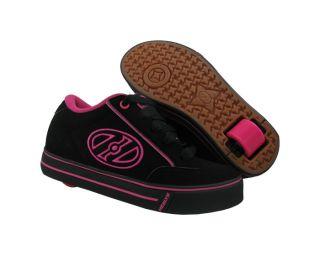 New Heelys Kids Wave Black Hot Pink Roller Skate Shoes US 2