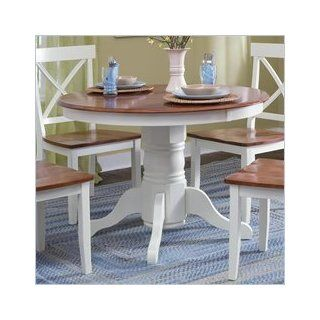 Home Styles   Round Pedestal Dining Table, 42 inch Dia x