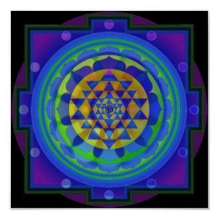 Sri Lakshmi Yantra Mandala Print