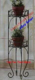 Metal Iron Planter Plant Stand Home Decor Indoor Outdoor Yard Garden