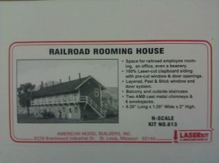 Model Builders N Scale Railroad Rooming House Kit 613 NIB