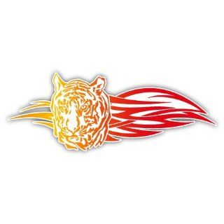 Tiger on Fire Auto Styling Car Bumper Sticker Decal 6 X 2