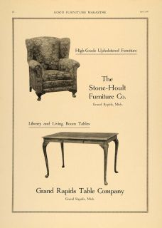 1920 Ad Stone Hoult Furniture Grand Rapids Table Chair   ORIGINAL