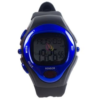 Blue Pulse Heart Rate Monitor Calories Counter Stop Watch WT024 BL H