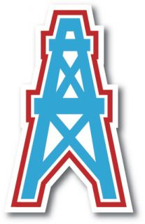 Houston Oilers Vinyl Die Cut Decal Sticker 3 Sizes