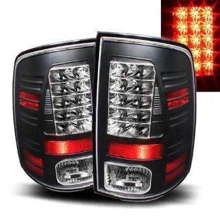 Dodge Ram 2010 2011 LED Tail Lights Black (Fits 2500)