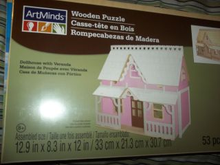 New Doll House Kit with Veranda and A Furniture Kit