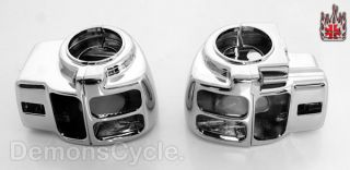 HAND CONTROLS BRAKE CLUTCH LEVERS SWITCH HOUSINGS FIT HARLEY FLT 96 04