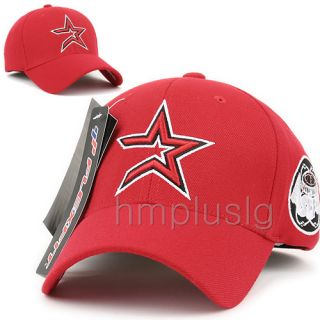 Houston Astros Flex Fit Baseball Ball Cap Hat MB Red