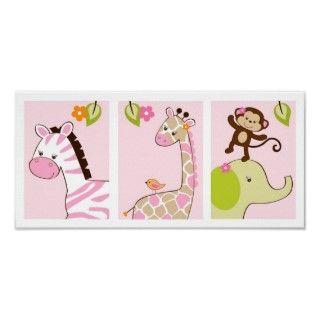 Arte animal de la pared del cuarto de niños de Jil Impresiones de
