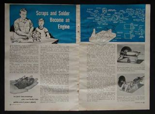 Simple Steam Engine 1950 How To build PLANS * No Casting or Machining