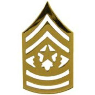 U.S. Army E9 Command Sergeant Major Pin Gold Plated 1