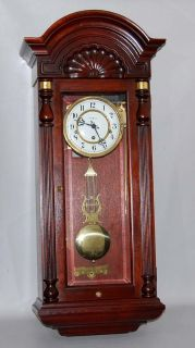Howard Miller Jennison Chiming Wall Clock Keywind w Pendulum Key 612