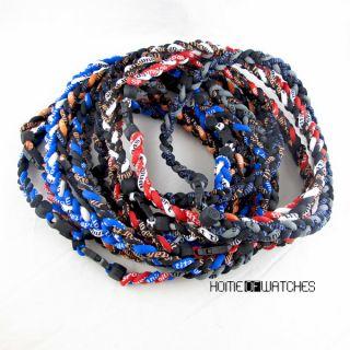 22 Tornado Titanium Magnetic Weave Rope Necklace NFL Football Sport