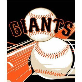 San Francisco Giants MLB Royal Plush Raschel Blanket (Big