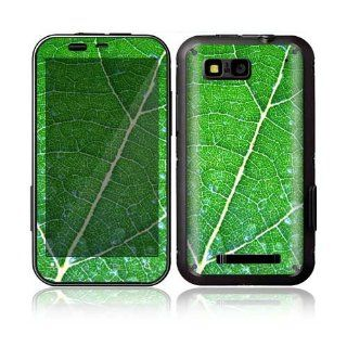 Motorola Defy Decal Skin Sticker   Green Leaf Texture