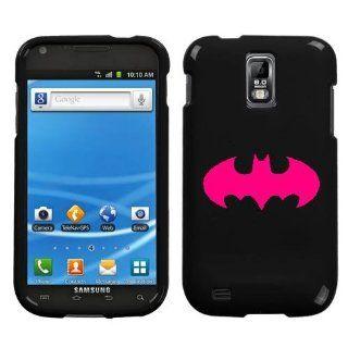 Samsung Galaxy S ll T989 PINK BATMAN ON BLACK HARD CASE