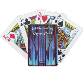 Blue organ pipes playing cards deck of cards