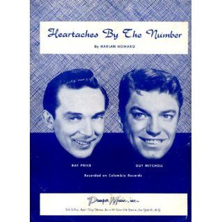 Heartaches By the Number Vintage 1959 Sheet Music Recorded