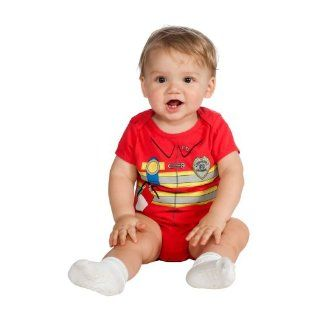 Baby Fireman Onesie Costume Size 0 6 Months: Everything