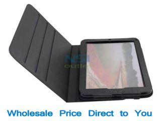 Leather Case Cover Stand Stylus Pen for HP Touchpad