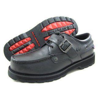 Polo Jeans Ralph Lauren Mens B Voyager Buckle Black Boots