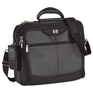 Black Targus HP Executive Leather Nylon Notebook Case for 17 inch