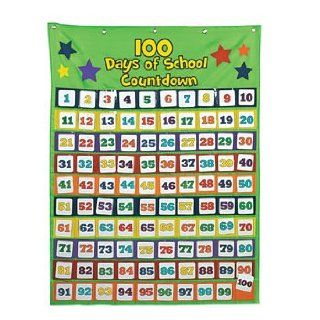 101 Pc 100th Day Countdown Pocket Chart   Teacher