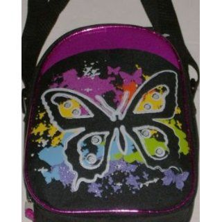 Totally Girl Black Glitter Butterfly Lunch Box Soft