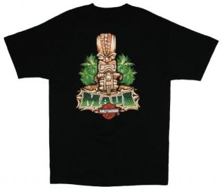 Maui Harley Davidson Mens Tiki Guy Black Short Sleeve T