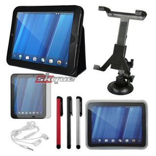 Bundle Kit Car Holder Cases Headset for HP Touchpad WiFi Tablet