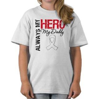 Lung Cancer   Always My Hero My Daddy Tshirt