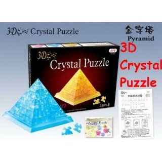 pyramid 3d crystal puzzle with color box christmas gift