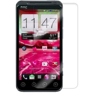 Clear Screen Protector Sheild with Cleaning Cloth for HTC EVO V 4G