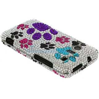 Paw Bling Rhinestone Hard Case Cover HTC Droid Incredible 6300