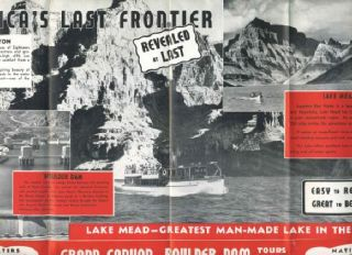 Grand Canyon Boulder Dam Brochure 1930s Hualapai Lodge