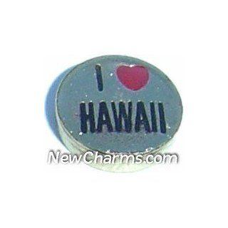 Love Hawaii Floating Locket Charm Jewelry