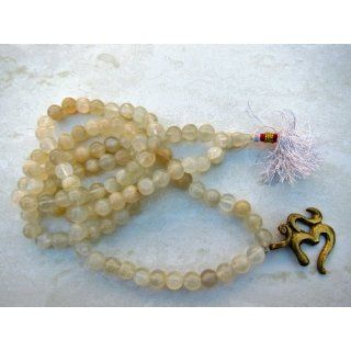 Mala 108 Prayer Beads on String with Om Pendant Arts, Crafts & Sewing