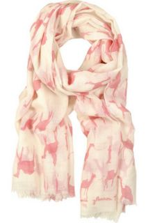 Virginia Johnson Camel print merino wool scarf   70% Off