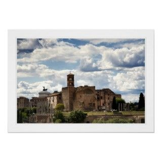 View of the Temple of Venus and Roma in Rome Italy