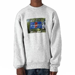 Indiana Welcome Sign Pullover Sweatshirts
