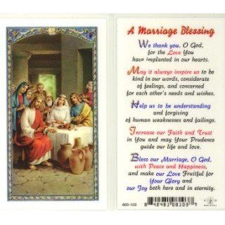 Blessing   Wedding at Cana Holy Card (800 103)
