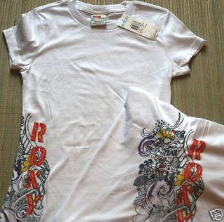 NWT Roxy Brand White T Shirt Size M 10 12
